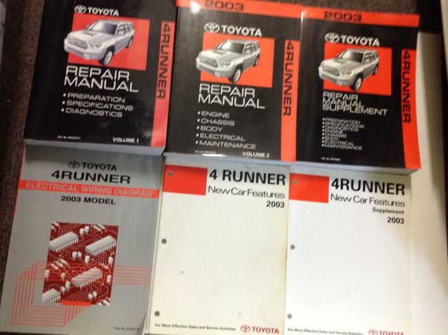2003 Toyota 4runner 4 Runner Service Repair Shop Manual