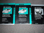 2002 TOYOTA CELICA Service Shop Repair Manual Set OEM W TRANSAXLE BOOK