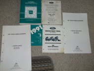 1991 Ford L SERIES L-SERIES TRUCK Service Shop Repair Manual Set DEALERSHIP HUGE