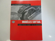 2002 Harley Davidson Softail Models Service Manual FACTORY NEW FRENCH EDITION