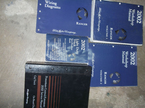 2002 Ford Ranger Truck Service Shop Repair Manual Set W