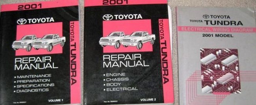 2001 Toyota Tundra Truck Service Shop Repair Manual Set W