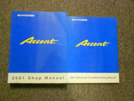 2001 HYUNDAI ACCENT Service Repair Shop Manual Set FACTORY W WIRING DIAGRAM BK