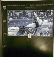 2001 Harley Davidson FLT Police Models Supplement Parts Catalog Manual NEW
