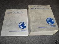 2001 Ford Mercury Villager Service Shop Repair Manual Set W EWD & PCED 3 BOOKS