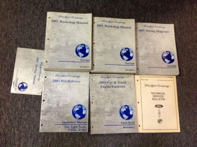 2001 Ford Escape Service Shop Repair Workshop Manual Set