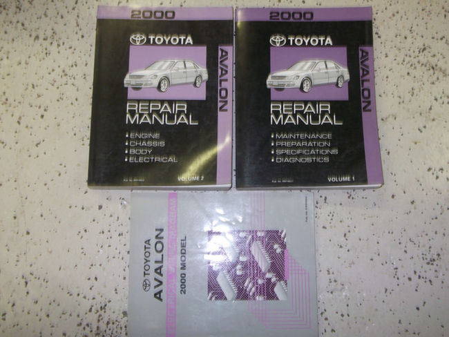 2000 Toyota Avalon Service Shop Repair Manual Set Oem 3