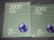 2000 MERCURY COUGAR Service Shop Repair Manual Set OEM 2 VOLUME HUGE