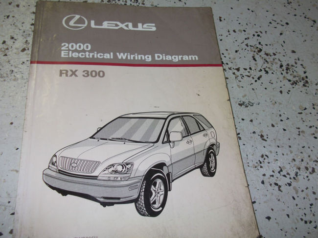 2000 Lexus Rx300 Rx 300 Electrical Wiring Diagram Service