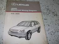 2000 Lexus RX300 RX 300 Electrical Wiring Diagram Service Shop Manual NEW EWD