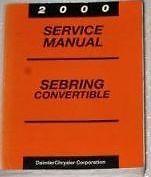 2000 CHRYSLER SEBRING CONVERTIBLE Service Shop Repair Manual FACTORY DEALERSHIP