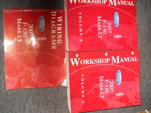 2007 Ford F-150 F150 Lincoln Mark Lt Truck Service Shop Repair Manual Set W Ewd
