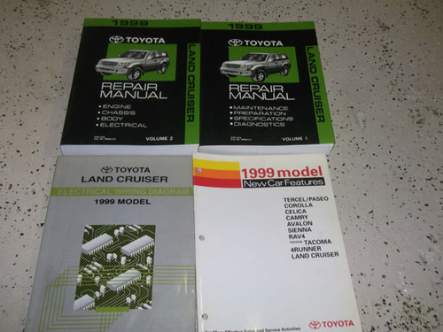 1999 Toyota Land Cruiser Service Repair Shop Manual Set