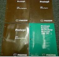 1999 MAZDA PROTEGE Service Repair Shop Manual BOOK OEM 99 SET W EWD ENGINE + MOR