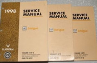 1998 OLDSMOBILE INTRIGUE Service Shop Manual Set W TRANSMISSION UNIT MANUALS OEM