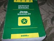 1998 JEEP MOPAR WRANGLER Service Shop Repair Workshop Manual FACTORY OEM Book 98