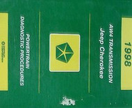 1998 JEEP CHEROKEE POWERTRAIN AW4 Diagnostic Procedures Service Repair Manual