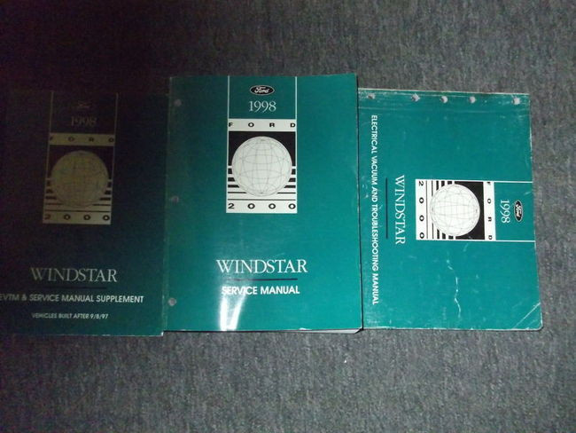 1998 Ford Windstar Mini Van Service Shop Repair Manual Set Oem Factory 98 X