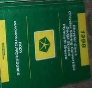 1998 CHRYSLER CIRRUS BODY DIAGNOSTIC PROCEDURES Service Shop Repair Manual OEM
