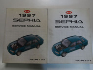 1997 Kia Sephia Service Repair Manual 2 VOLUME SET FACTORY OEM BOOK 97