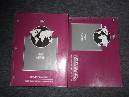 1997 Ford Aspire Service Shop Repair Manual Set 97 Oem W