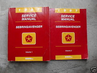 1997 Chrysler Sebring & Dodge Avenger Service Shop Repair Manual Set 2 VOLUME