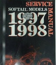 1997 1998 HARLEY DAVIDSON SOFTAIL MODELS Service Shop Repair Manual OEM NEW