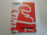 1996 Yamaha YZ125H1 Owners Service Repair Shop Manual FACTORY OEM BOOK 96