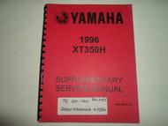 1996 Yamaha XT350H Supplementary Service Shop Manual FACTORY OEM BOOK 96 DEAL