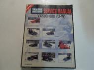 1996 Yamaha VX500XTW VX600XTW STW Supplementary Service Manual FACTORY OEM WORN