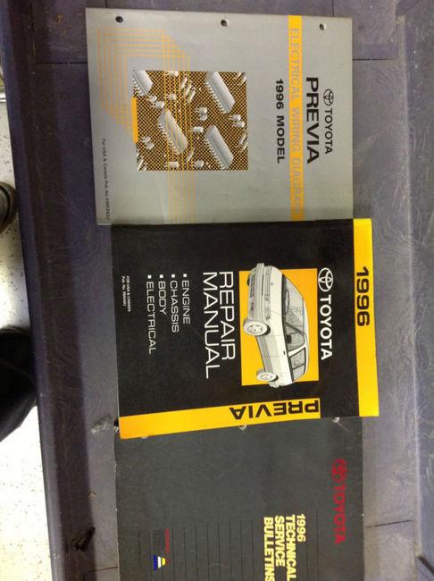 1996 Toyota Previa Van Service Shop Repair Manual Set W Ewd  U0026 Tech Bulletins X