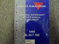 1996 Polaris SL SLT 700 Service Repair Shop Manual Supplement FACTORY OEM BOOK x