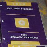 1996 JEEP GRAND CHEROKEE BODY DIAGNOSTIC Service Shop Repair Manual FIRST PRINT