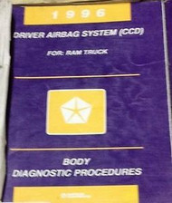 1996 DODGE RAM TRUCK Driver Airbag System CCD 1ST Body Diagnostic Manual OEM