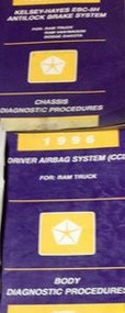 1996 DODGE RAM TRUCK Chassis & Body Diagnostic Procedures Manual SET Factory OEM