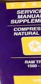 1996 Dodge Ram Truck 1500 2500 3500 Compressed Natural Gas Supplement Manual OEM