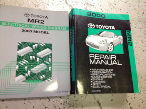 2000 Toyota Mr2 Mr 2 Service Repair Shop Workshop Manual