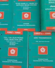 1995 JEEP GRAND CHEROKEE Service Shop Repair Manual SET W DIAGNOSTICS 5 BOOKS