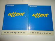 1995 HYUNDAI ACCENT Service Repair Shop Manual 2 VOLUME SET FACTORY OEM BOOK 95