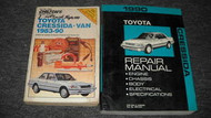 1990 TOYOTA CRESSIDA Service Shop Repair Workshop Manual Set OEM W Chilton Book