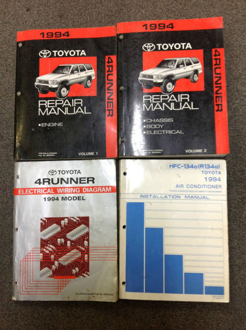 1994 Toyota 4runner 4 Runner Service Shop Repair Manual Set W Ewd   Installation