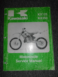 1994 Kawasaki KX125 KX250 Repair Service Shop Manual OEM FACTORY X 94