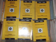 1994 JEEP GRAND CHEROKEE Shop Service Repair Manual Set OEM FACTORY W DIAGNOSTIC