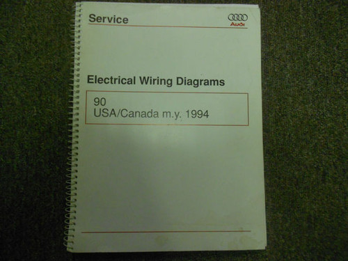 1994 Audi 9usa Canada My Electrical Wiring Diagram Service Manual Oem 94