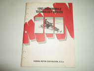 1993 Yamaha Snowmobile Technology Update Manual FACTORY OEM BOOK 93 WATER DAMAGE