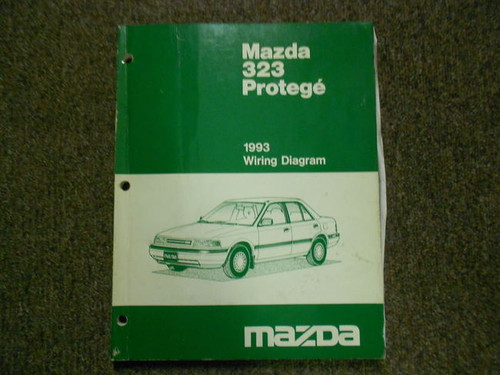 1993 Mazda 323 Protege Electrical Wiring Diagram Service Repair Shop Manual X