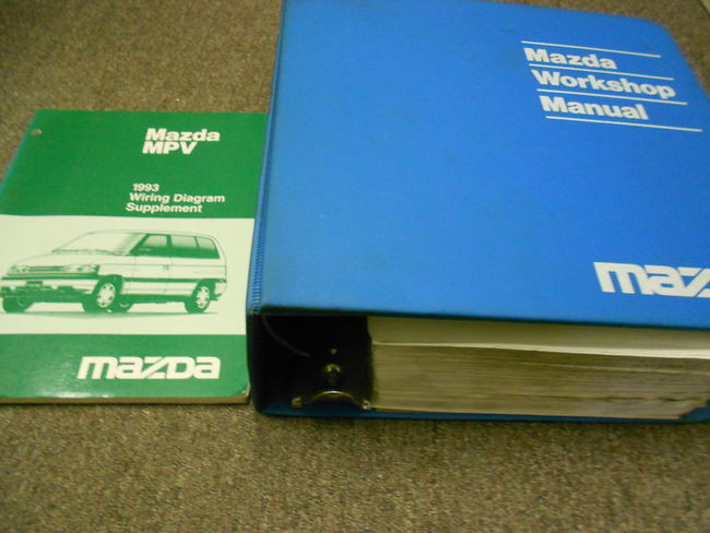 1993 Mazda Mpv Van Service Shop Repair Manual Set Factory