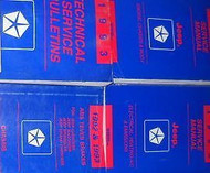 1993 Jeep Cherokee Wrangler Service Shop Repair Manual Set W BULLETINS & DIAGNOS