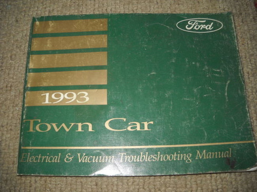 1993 Ford Lincoln Town Car Electrical Wiring Diagrams