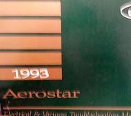 1993 FORD AEROSTAR Electrical Wiring Diagrams Service Shop Repair Manual EWD 93